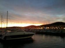 Coucher de soleil sur le port de st maxime