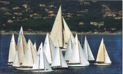 The meeting of St Tropez boats